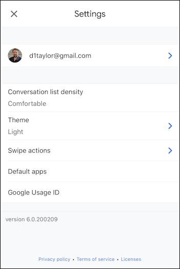iphone gmail - settings ipad ios13