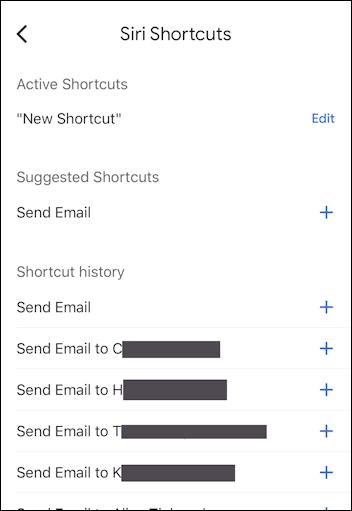 gmail app iphone - siri shortcuts