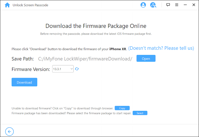 lockwiper iphone unlock app help utility - download firmware package