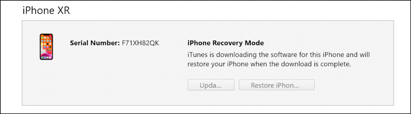 itunes windows 10 - restoring iphone