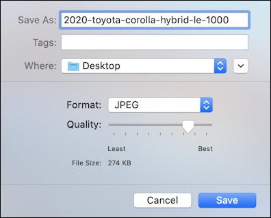 reduce jpeg image file size - mac preview photo photograph image picture