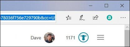 microsoft rewards status - bing home page