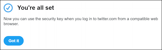 twitter account security - public key security enabled