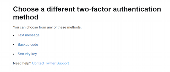 twitter - second factor two factor authentication login