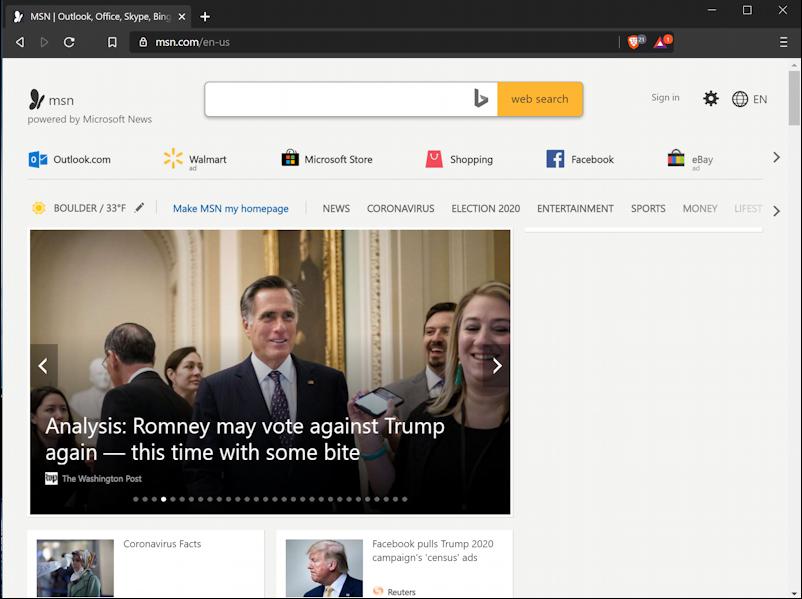 msn.com home page