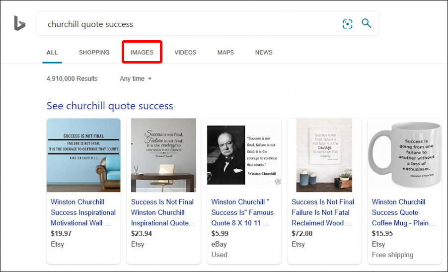 bing search - winston churchill inspirational quotes