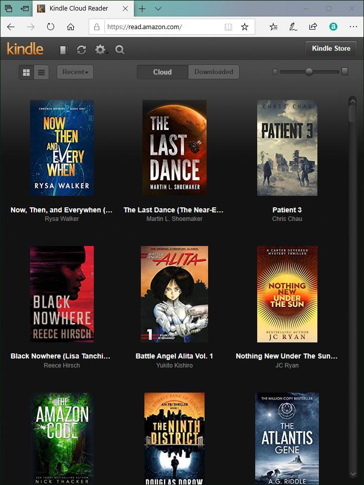 amazon kindle ebook book reader web browser read.amazon.com