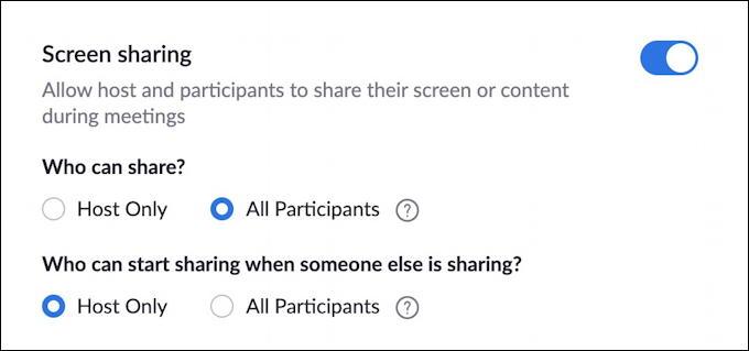 zoom avoid zoombombing - screen sharing