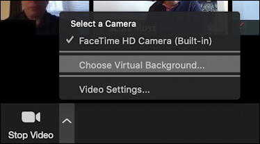 zoom video features settings
