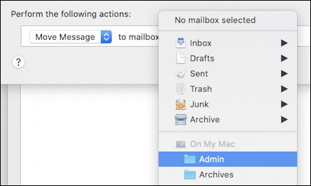 mac apple mail - move message too rule filter