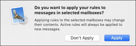 mac apple mail - apple rule to mailbox