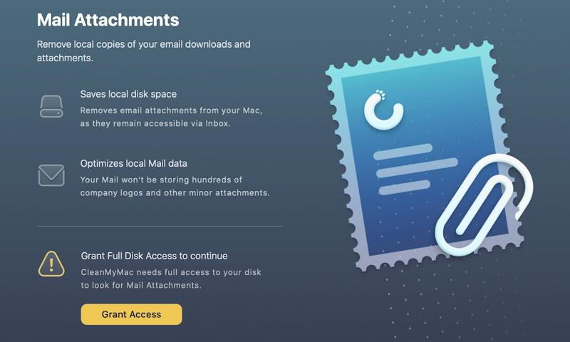 cleanmymac x review - clean up mail attachments disk space