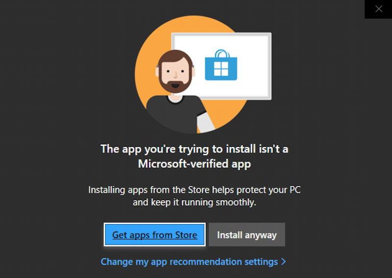 windows 10 warning - run third party app program?