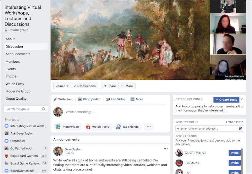 create facebook group - new group with banner art photo graphic