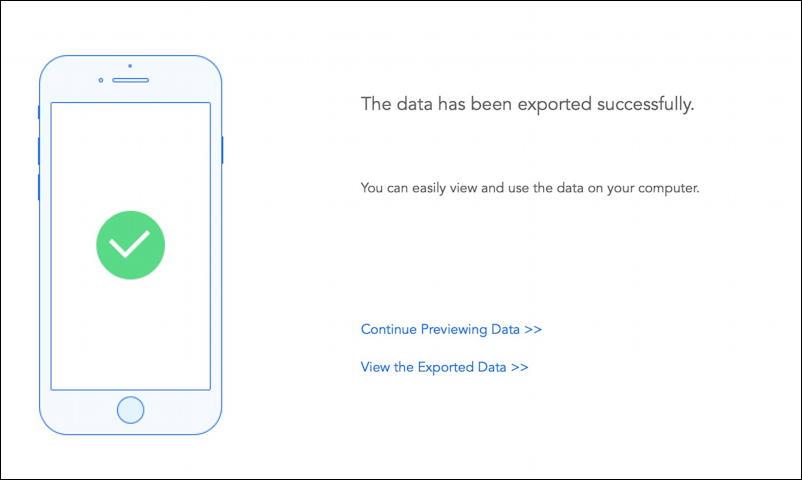 imyfone itransor lite - iphone ipad backup utility - success exported