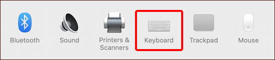 macos x system preferences - keyboard