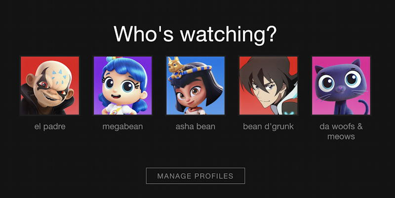 netflix - set profile security pin - who's watching?