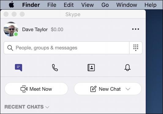 skype on mac - default window