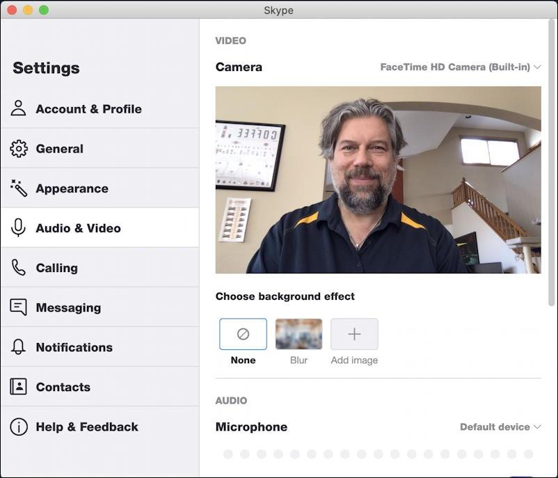 skype on mac - skype settings preferences video audio -