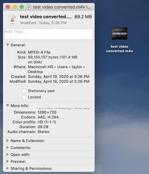 vlc convert mkv mp4 - m4v file created ready to play