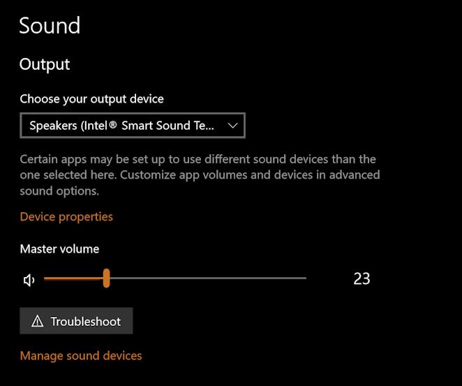 win10 sound audio settings htmi tv