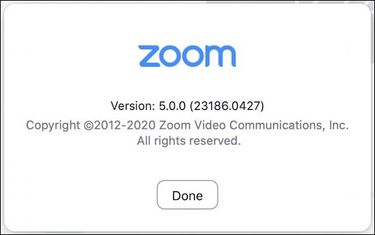 about zoom - release 5.0 updated - mac macos x