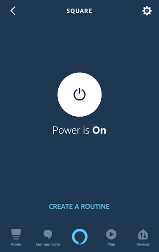 alexa iphone app - control plug outlet