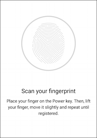 lg g6 - android 8.0 - add fingerprint - prompt scan fingerprint