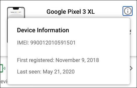 google pixel 3 xl details info imei