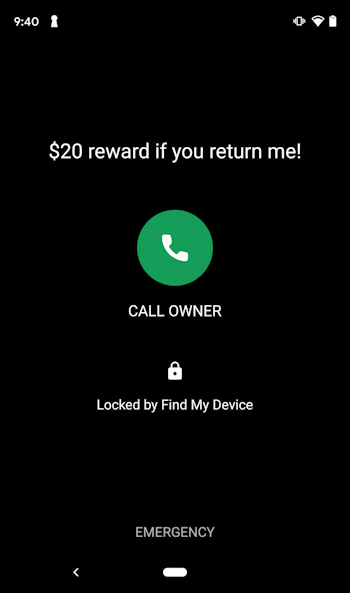 android smartphone - recover device restore - lock screen