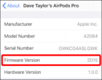 how to update apple airpods pro firmware version