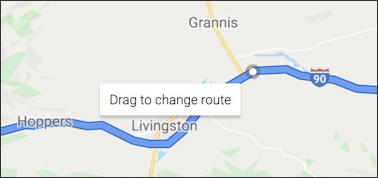 google maps - add detour