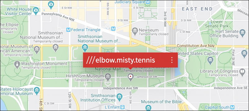 what3words demo example washington dc