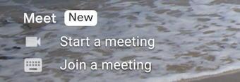 google meet - start a meeting