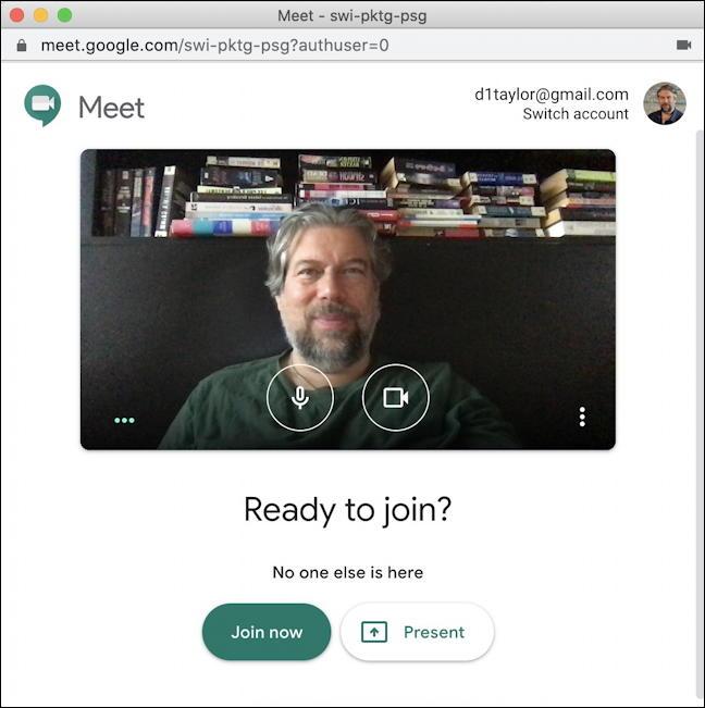 start google meet hangout video