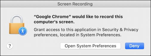 google meet - mac permission