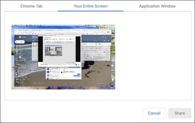 google meet - share entire screen