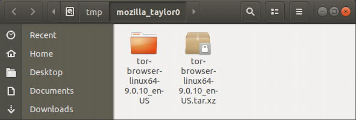 linux tor browser - downloaded - ready to install