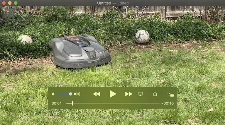 mac quicktime player - trimmed video ready to save