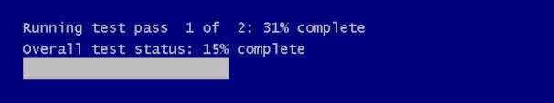 win10 run windows memory diagnostic - still running