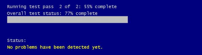 win10 run windows memory diagnostic - still running more