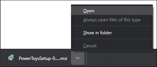 open download msi powertoys