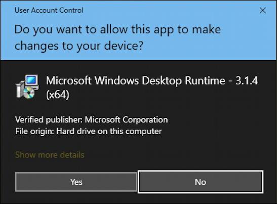 win10 sure you want program make changes to pc device desktop