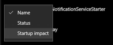 win10 startup apps - sort by impact