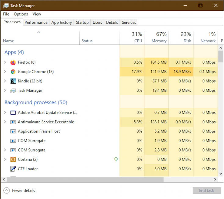 win10 task manager