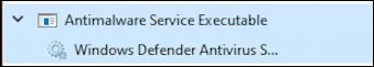 windows defender - antimalware service executable