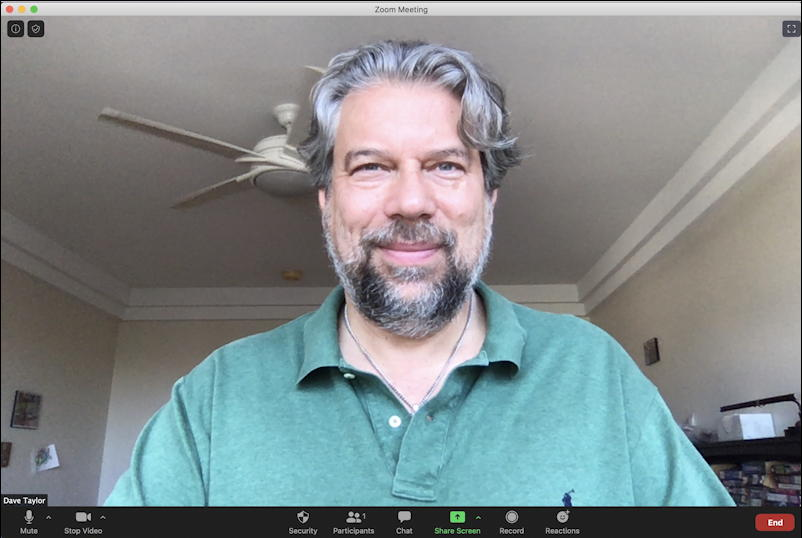 ask dave taylor - zoom video chat call