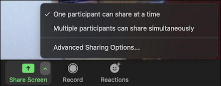 zoom share screen options in app mac
