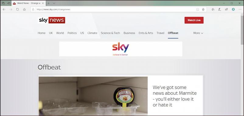 sky news- weird news