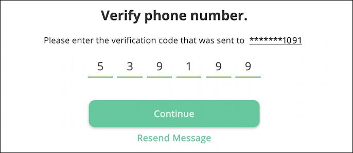 my arlo.com - enable two-step verification - verify phone number